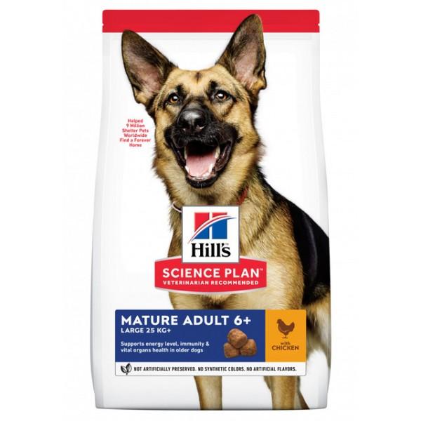 Hills koera täissööt mature suur tõug kana 18kg