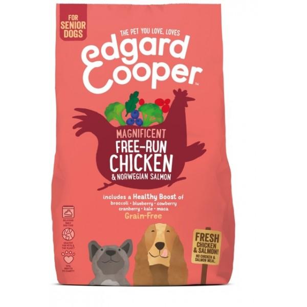 Edgard cooper koera täissööt free-run kana/lõhe seenior 7kg