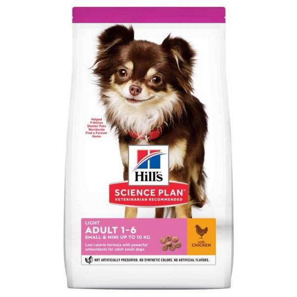 Hills koera täissööt light small&mini kana 1.5kg