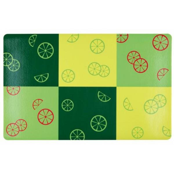 Alusmatt fresh fruits 44 x 28cm green