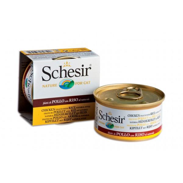 Schesir cat kassikonserv kanafilee ja riisiga, 85g